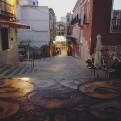 Casco antiguo del centro de la ciudad de Cartagena, ahora zona de ocio y restauración.