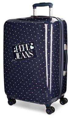 9f26507ab Pepe Jeans Olaia Suitcase, 67 cm, 64 liters, Blue (Azul) Medium