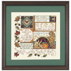 Turning Hearts (Fall) T51483 - Cross Stitch, Needlepoint, Stitchery, and Embroidery Kits, Projects, and Needlecraft Tools | Stitchery