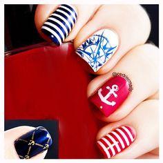 CICI&SISI Nautical Nails Nail Art Stamp Set Jumbo 2-Set of 6 JUMBO Nail Art Polish Stamping Manicure Accessories Kit All New Designs w/ FREE Stamper&Scraper Tool Set : Beauty