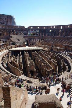 Italy Travel Inspiration - Inside the Colosseum, Rome, Italy
