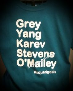 #squadgoals, Squadgoals Shirt, # Shirts, Short Sleeve & Long Sleeve T-Shirt, Greys Anatomy Shirt