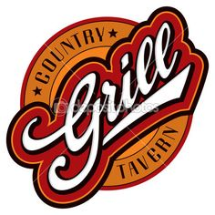 Grill hand lettering design (vector) — Stock Vector © letterstocker #download #stock #StockImages #microstock #royaltyfree #vectors #calligraphy #HandLettering #lettering #design #letterstock #silhouette #decor #printable #printables #craft #diy #card #cards #label #tag #sign #vintage #typography