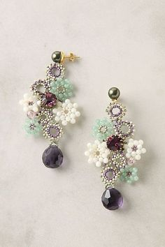 10 Lovely Daisy Accessories Must See - seed bead daisy chain earrings The Effective Pictures We Offer You About jewelry branding A qualit - Seed Bead Jewelry, Bead Jewellery, Seed Bead Earrings, Beaded Earrings, Beaded Jewelry, Jewelery, Handmade Jewelry, Chain Earrings, Seed Beads