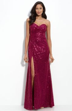 I know it's a bit more sparkly than what you were looking for, but we could sew the slit up a bit and the color is nice.
