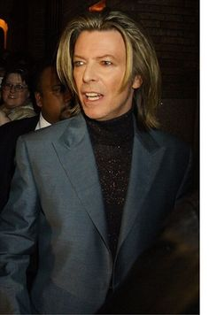 DAVID BOWIE, singer, actor, played in Labyrinth, The Man who Fell to Earth, The Hunger, The Prestige.