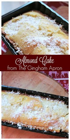 A Christmas Tradition: Swedish Almond Cake. EASY to make, and so delicious.