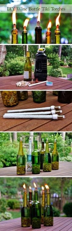 Declaring War on Mosquitos: No. 1 | DIY Wine Bottle Tiki Torch Redeem Your Ground | RYGblog.com by juanita