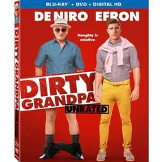 Dirty Grandpa (Unrated) [Blu-ray + DVD + Digital HD]: Robert De Niro and Zac Efron get down and dirtier in this unrated version of the raunchy comedy about a wild road trip shared by an uptight guy and his foul-mouthed granddad. Zac Efron, New Movies, Movies And Tv Shows, 2016 Movies, Comedy Movies, Watch Movies, Dermot Mulroney, Amazon Instant Video, Zoey Deutch