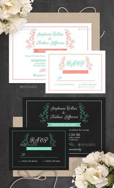 Modern Wedding Invitation  PSD Template — Photoshop PSD #invitation template #wedding invitation • Available here → https://graphicriver.net/item/modern-wedding-invitation-psd-template/7708512?ref=pxcr