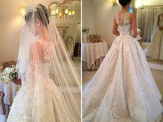Vestido de noiva clássico - renda e saia volumosa ( Vestido: Wanda Borges )