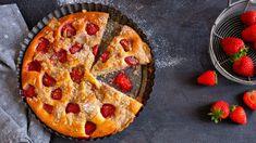 Jahodový koláč s drobenkou a tvarohem Quiche, Strawberry, Pizza, Breakfast, Cake, Desserts, Food, Morning Coffee, Tailgate Desserts