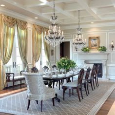 Elegant Navy Blue Dining Room Formal Design Ideas, Pictures, Remodel And Decor