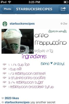 How to make a Starbucks Oreo Frappacino at home.