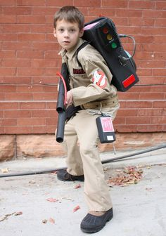 Great DIY Ghostbuster costume. The Proton Pack is made out of the box from a 20 pack of Diet Coke