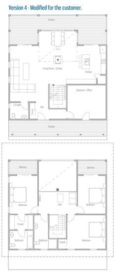 Modern House Plan with small building area. Balconies on the second floor. Modern house with spacious interior areas. Ultra Modern Homes, Small Buildings, Small House Design, Modern House Plans, Second Floor, Floor Plans, Flooring, How To Plan, Interior