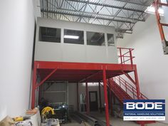 Integrated Systems install with #ModularOffice and #Mezzanine structurein Massachusetts