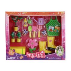 My Life As Gardening Set My Life Doll Stuff, My Life Doll Clothes, My Life Doll Accessories, American Girl Accessories, Barbie Doll Set, Barbie Toys, Baby Dolls For Kids, Toys For Girls, American Girl Doll Sets