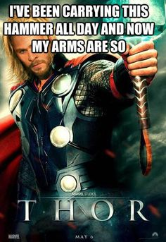 thor is sore