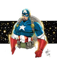 Captain America Markers - colors by Rexbegonia.deviantart.com on @deviantART