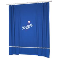 los angeles dodgers jersey mesh fabric shower curtain