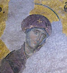Hagia Sophia Constantinople (Istanbul) Holy Theotokos from the Deesis Mosaic.