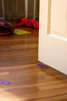 The Tape Trick- get your toddler to stay in bed at bedtime! My kiddo's door is always shut, but there may be a time this is handy.