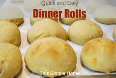 This Simple Home: One Hour Dinner Rolls