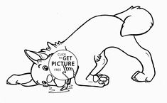 very funny dog coloring page for kids animal coloring pages printables free wuppsy