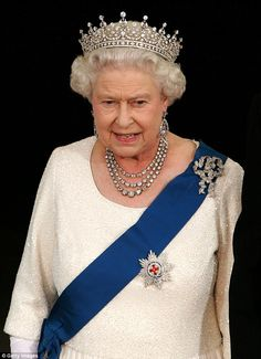LiLo wrote: 'The first thing I would like to do as president of is take care of all of the children suffering in the world.#queenELIZABETH showed me how by having me in her country' (The Queen picture in 2007 at the White House in Washington DC)