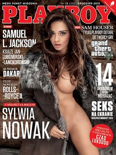Playboy (Poland) December 2013 with Sylwia Nowak on the cover of the magazine
