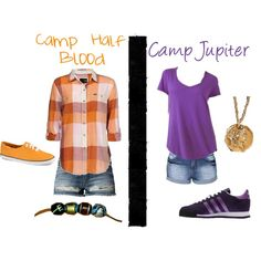 Camp Half-Blood vs. Camp Jupiter. Purple is my favorite color but I LOVE LOVE LOVE plaid!!!!!! But I'm going with CHB since it always has, and always will, be my favorite.