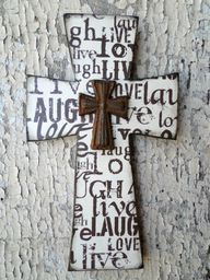 Cross. I wish I could fill a whole wall of beautiful crosses.