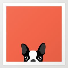 Boston Terrier Art Print by Anne Was Here - $15.50