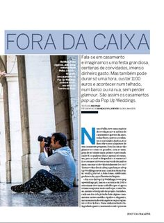 Pop Up Weddings  today at  Noticias Magazine   Pop Up Weddings  em reportagem hoje na    Noticias Magazine