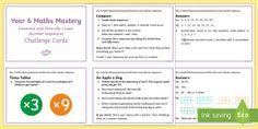 Year 6 Algebra: Generate and Describe Maths Mastery Challenge Cards - Year 6, maths, mathematics, numeracy, algebra, challenge cards, fast finisher, problem solving,Austr