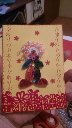 #clown #handmade #cards #kids #birthday #party #quilling