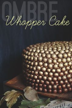 An autumn inspired ombre Whopper Cake!