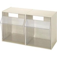 Store small and medium parts efficiently with IDEAL Security Stackable Organizer for Everything from DIY to Crafts Tilt Bins, 2 Large Plastic Storage Bins. Tool Drawer Organizer, Small Parts Organizer, Tool Storage, Storage Ideas, Large Plastic Storage Bins, Plastic Drawers, Plastic Bins, Do It Yourself Organization, Office Supply Organization