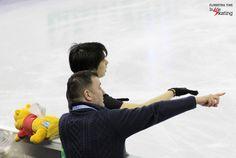 Brian Orser and Yuzuru Hanyu  Inside Skatingより
