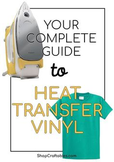 A complete guide to creating custom t-shirts and any other crafts involving heat transfer vinyl. Find all iron-on vinyl FAQ right here! For the projec Vinyle Cricut, Cricut Iron On Vinyl, Cricut Htv, Cheap Heat Transfer Vinyl, Iron On Transfer, Shilouette Cameo, Cricut Tutorials, Cricut Ideas, Vinyl Shirts
