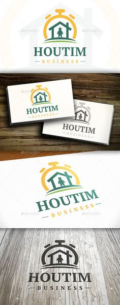 House Time  Logo Design Template Vector #logotype Download it here:  http://graphicriver.net/item/house-time-logo/10282760?s_rank=1241?ref=nesto