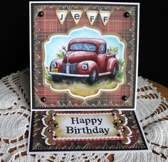 Inspired By Stamps: The Old Truck Birthday Card