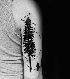 Schwarz-Kiefer-und Snowboard-Tattoo Männer Arme