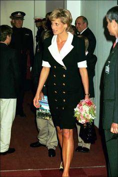 July 11, 1996:  Princess Diana at the Royal Tournament, Earls Court, London.