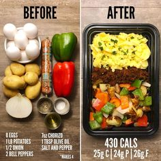 Easy Meal Prep, Healthy Meal Prep, Easy Healthy Recipes, Lunch Recipes, Diet Recipes, Healthy Snacks, Easy Meals, Healthy Eating, Keto Meal