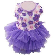 Wedding Pet Puppy Dog Summer Dress Cat Clothes Small Dog Funny Costume Tulle Dresses Floral Princess Vestidos #Affiliate