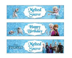 Frozen Water Bottle Label(Non personalized) Disney Frozen Birthday party  Printable