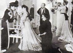 Berliner Modesalon, um 1900.