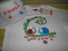 Camiseta personalizada Pintada a Mano y gorra a juego.